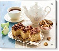 Breakfast With Nut Cake Acrylic Print by Verdina Anna