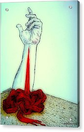 Breaks The Heaven With The Same Hand Breaks The Earth Acrylic Print by Paulo Zerbato