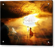 Breakthrough Acrylic Print by Art By Demarti