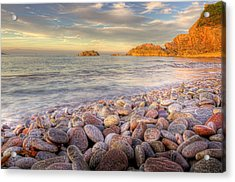 Breakwater Beach Acrylic Print by Phil Hemsley