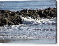 Breakwater  Acrylic Print by Ralph Jones