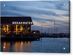 Acrylic Print featuring the photograph Breakwater  by Serene Maisey