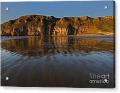 Brean Down Reflection Acrylic Print by Urban Shooters
