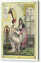 Breastfeeding, 18th-century Caricature Acrylic Print by Miriam And Ira D. Wallach Division Of Art, Prints And Photographsnew York Public Library
