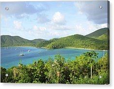 Breath-taking View Of Maho Bay, St John Acrylic Print