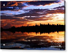 Breathtaking Sunset Acrylic Print by Luis and Paula Lopez