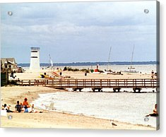 Acrylic Print featuring the photograph Breezy Point Bayside Frosted Glass by Maureen E Ritter