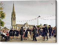 Breton Dancing Acrylic Print by Sophie De Roumanie