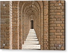 Brick Arches At Fort Jefferson In Dry Acrylic Print
