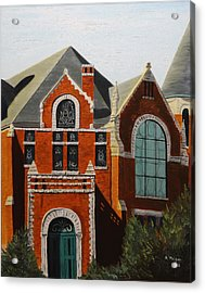 Brick Masterpiece Acrylic Print by Alan Mager