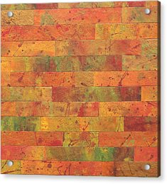 Acrylic Print featuring the painting Brick Orange by Kathy Sheeran