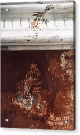 Acrylic Print featuring the photograph Brick Red Wall Detail by Agnieszka Kubica