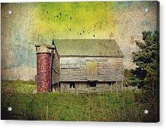 Brick Silo Acrylic Print by Kathy Jennings