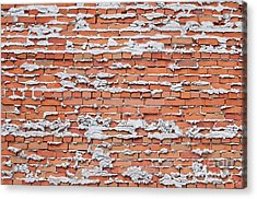 Acrylic Print featuring the photograph Brick Wall With Mortar by Les Palenik