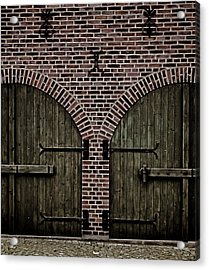 Brick Zipper Acrylic Print by Odd Jeppesen