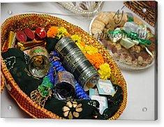 Bridal Accessories Acrylic Print by Ambreen Jamil