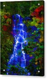 Bridal Veil Falls Acrylic Print by Michael Cleere