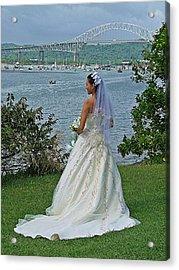 Bride And Bridge Acrylic Print