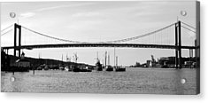 Bridge And Boats Acrylic Print by Smallfort Photography Collection