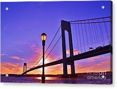 Bridge At Sunset 2 Acrylic Print by Artie Wallace