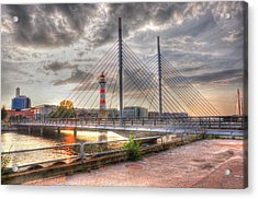 Bridge Acrylic Print by Barry R Jones Jr