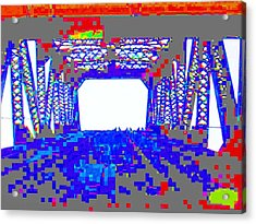 Bridge In Blue Acrylic Print by Val Oconnor