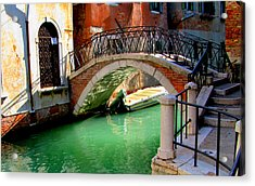 Bridge In Venice Acrylic Print by Barbara Walsh
