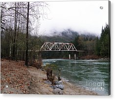 Bridge In Washington State Acrylic Print by Tanya  Searcy