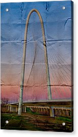 Bridge On Paper Acrylic Print