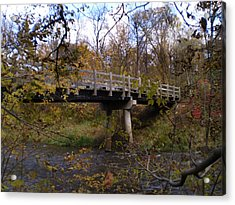 Bridge On The Sunrise River Acrylic Print