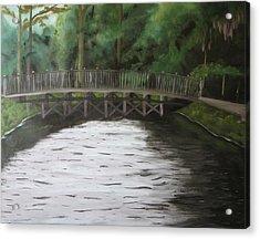 Bridge  Over River Acrylic Print by Iris Nazario Dziadul