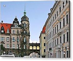 Bridge Over Taschenberg Street Dresden Acrylic Print