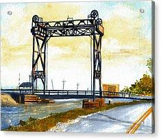 Bridge Over The Bayou Acrylic Print by Elaine Hodges