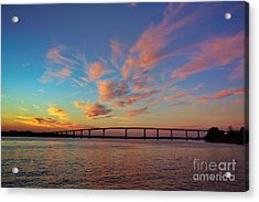 Bridge Over The Patuxent Acrylic Print by Susan Isakson