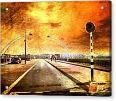 Bridge Over Troubled Water  Acrylic Print by Yvon van der Wijk