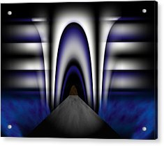 Bridge Over Troubled Waters Acrylic Print by Christopher Gaston