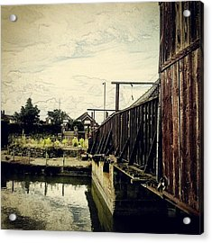 Bridge Over Troubled Waters #water Acrylic Print