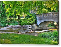 Bridge Over Waterway At Eden Park Acrylic Print