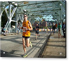 Acrylic Print featuring the photograph Bridge Runner by Alice Gipson