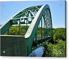 Acrylic Print featuring the photograph Bridge Spanning Connecticut River by Sherman Perry