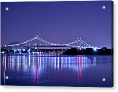 Tri-borough Bridge In Nyc Acrylic Print
