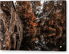 Acrylic Print featuring the photograph Bridge To Autumn by Tom Gort