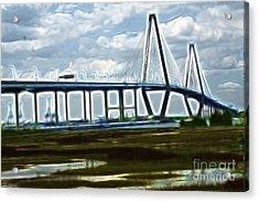Bridge To Charleston Acrylic Print by Darleen Stry
