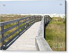 Bridge To The Beach Acrylic Print by Glennis Siverson