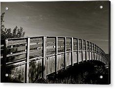 Bridge To The Falls Acrylic Print by Jez C Self