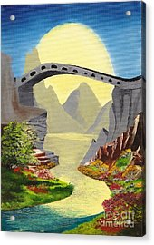 Bridge To The Moon Acrylic Print