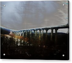 Bridge To The Past Acrylic Print by Rosvin Des Bouillons