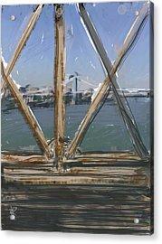 Bridge View Acrylic Print by Russell Pierce