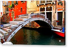 Acrylic Print featuring the photograph Bridge Without Railings by Barbara Walsh