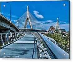 Bridges Meetting Acrylic Print by Lauren MacIntosh